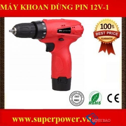 Máy khoan dùng pin 12v- 1 tốc độ